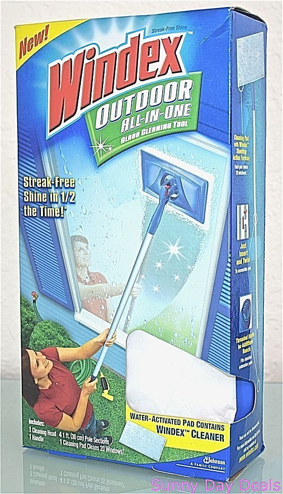 Windex Outdoor Glass Cleaning Tool All In One Starter Window Cleaner #Windex  | Clean It Up | Pinterest | Glass Cleaning, Starters And Window