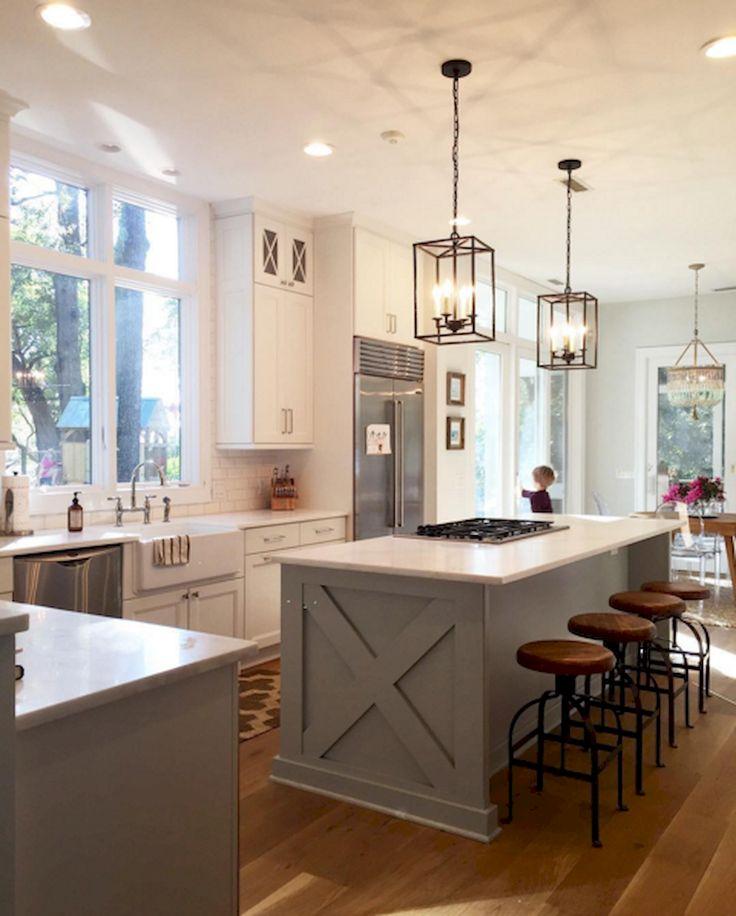 Must Have Farmhouse Kitchen Decor Ideas: 50 Fabulous Farmhouse Kitchen Island Design Ideas