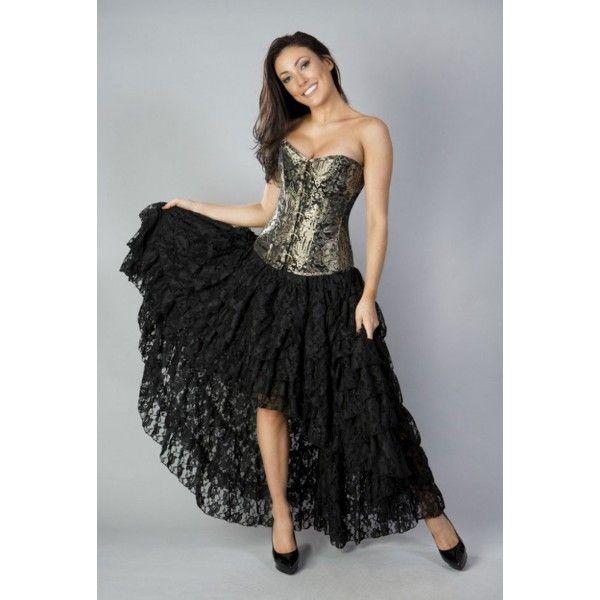 Jupe gothique romantique de la marque Burleska disponible à 69€ sur www.blue-raven.com / Shop this beautiful Skirt on Blue Raven! #Gothic #Gothique #Victorien #Vetement #Goth #Clothing