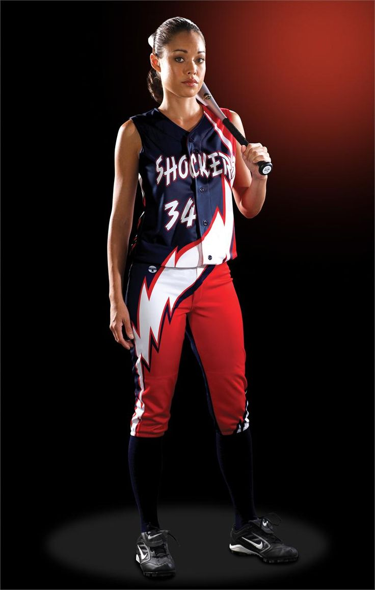 softball+uniforms+girls | Thunder Bolt Women's Sublimated Softball Jersey Teamwork ProSphere
