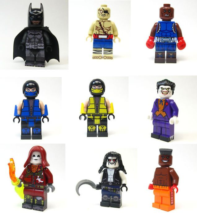 Batman (Arkham Origins) Sagat (Street Fighter) Balrog (Street Fighter) Sub-Zero (Mortal Kombat) Scorpion (Mortal Kombat) The Joker (Batman: TAS) Anarky (Arkham Origins) Lobo Dee Jay (Street Fighter)