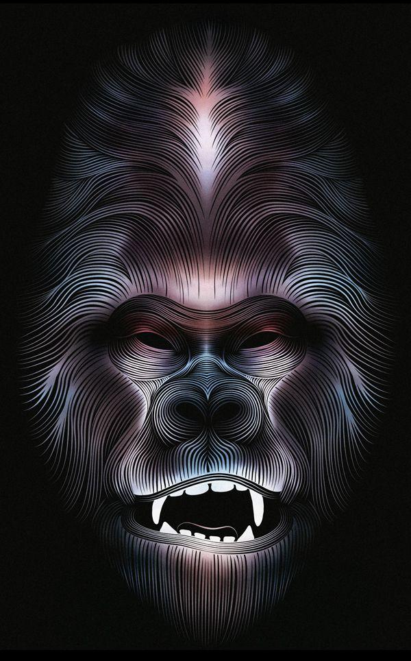 Gorille by Patrick Seymour, via Behance