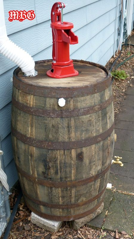 This Old Whiskey Barrel turned over a New Leaf for our Butterfly Garden. #rain_barrels #garden_ideas