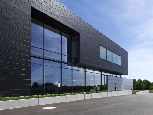 ffices and showroom in Herford (Germany) by Bks architekten BDA Brinkmeier I Krauß I Stanczus  #Architecture #Façade #AnthraZinc #ANTHRAZINC #VMZINC #Offices #Germany
