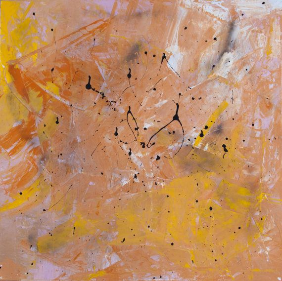 Original Abstract Acrylic Painting. Contemporary art.  Size: 100cm x 70cm (39in x 27in)