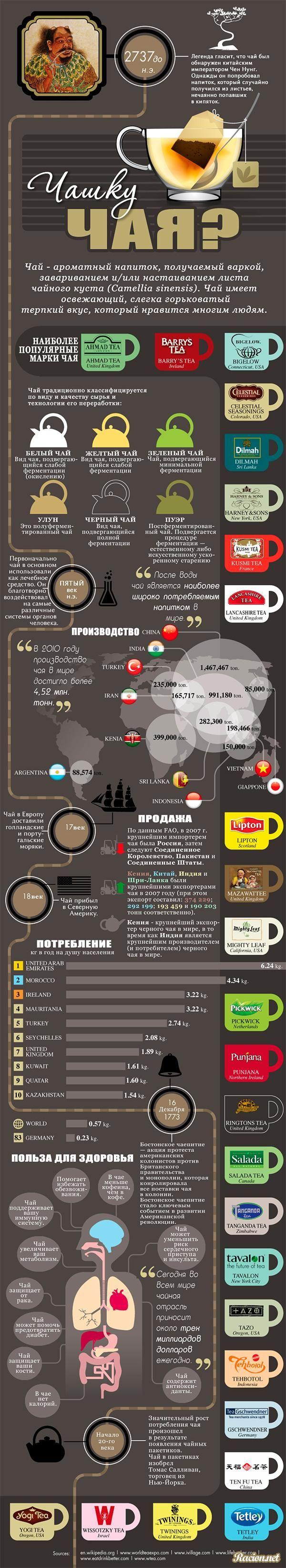 Инфографика. Все о чае