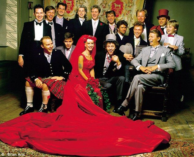 Bob Geldof's wedding to Paula Yates in 1986. David Bowie is seated on right.