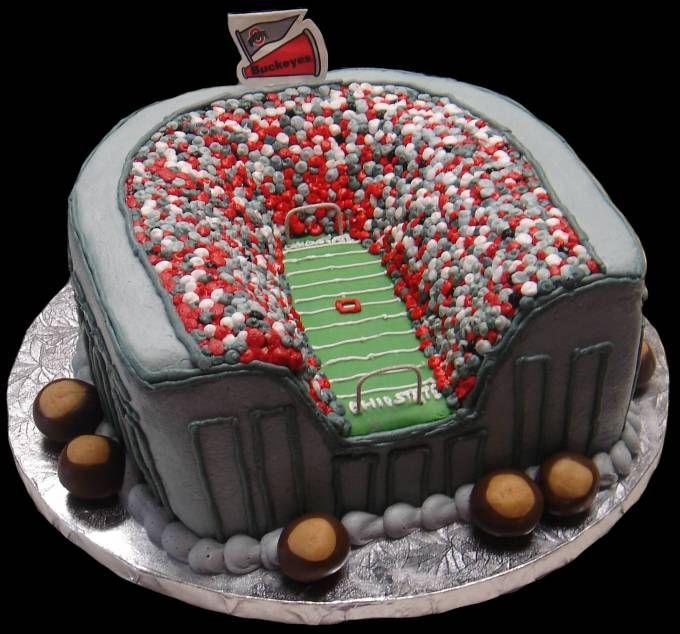 Ohio State Buckeyes Cake!  Love it.
