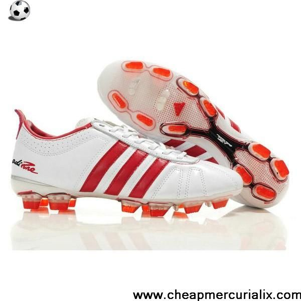 Fashion Adidas Adipure IV Trx FG Cleat White Red Soccer Boots For Sale