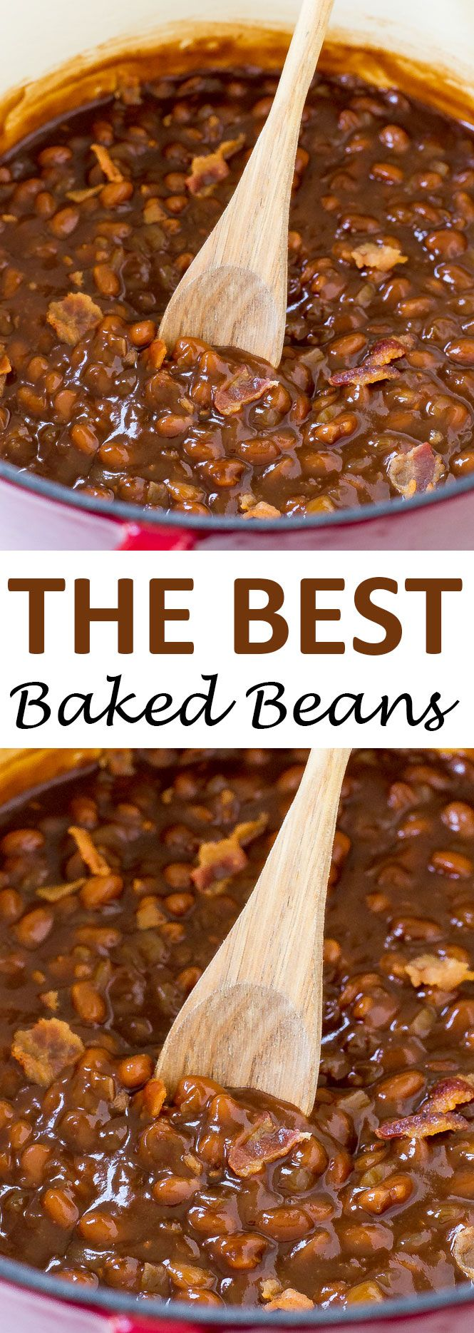 The BEST Baked Beans. The perfect side dish for barbecues, picnics or for Fourth of July! | chefsavvy.com #recipe #baked #beans #side