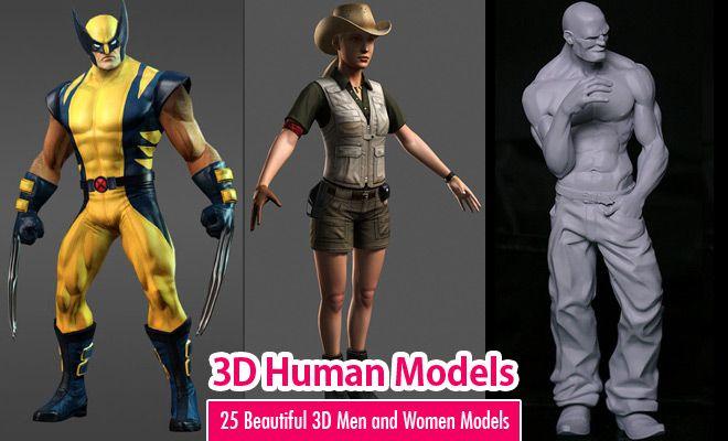 25 Beautiful 3D Human Models 3D Men and Women Models