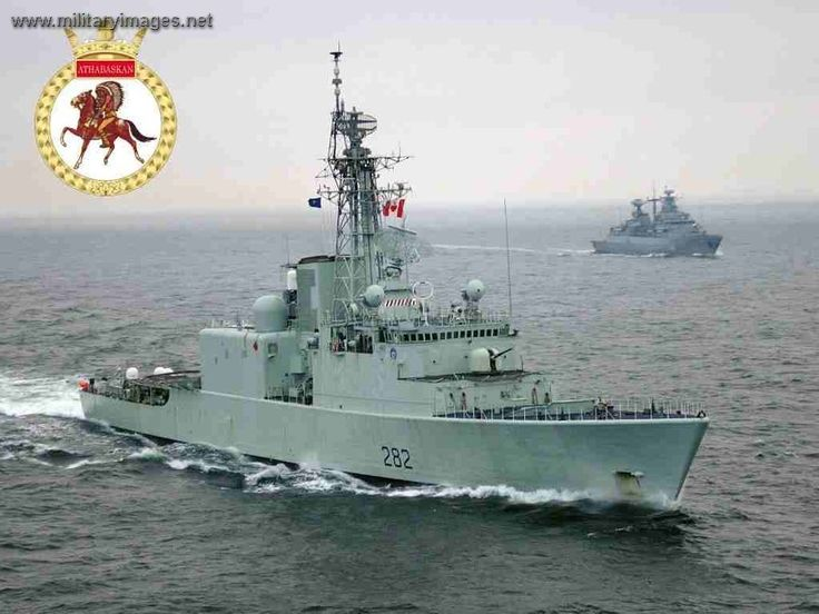 HMCS Athabaskan (DDG 282). Iriquois class destroyer,3rd in class, in service with Royal Canadian Navy since 1972.