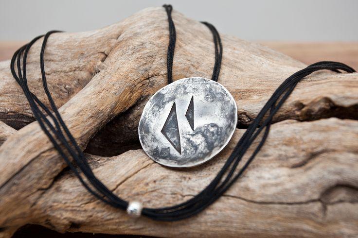 #jewelry #jewellery #metalwork #sterling #silver #pendant #distressed #contemporary #minimalistic #Siamanis #etsy #Belisamacrafts #Belisama