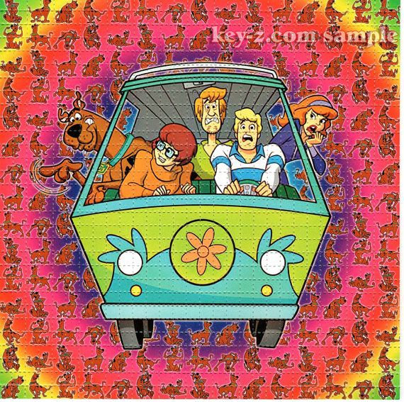 Scooby Doo BLOTTER ART - perforated acid art paper - Kesey Leary Hofmann Owsley Grateful Dead psychedelic lsd sheet tabs