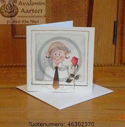 Minna Immonen confirmation (first communion) card: boy / Minna Immosen konfirmaatiokortti (rippikortti): poika