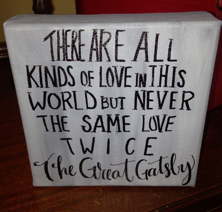 The Great Gatsby quote  on 6 x 6 inch canvas by InkandPenShop, $25.00