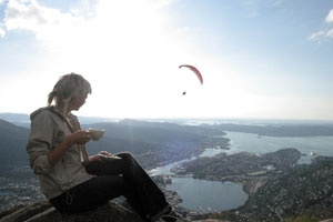 Experience the fresh air and the great view at Bergen Hostel Montana, Norway