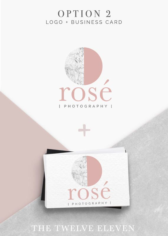 MARBLE & BLUSH PINK, Pre-made - Logo - Etsy - Branding - Business - Photography - Boutique - Rose Gold,