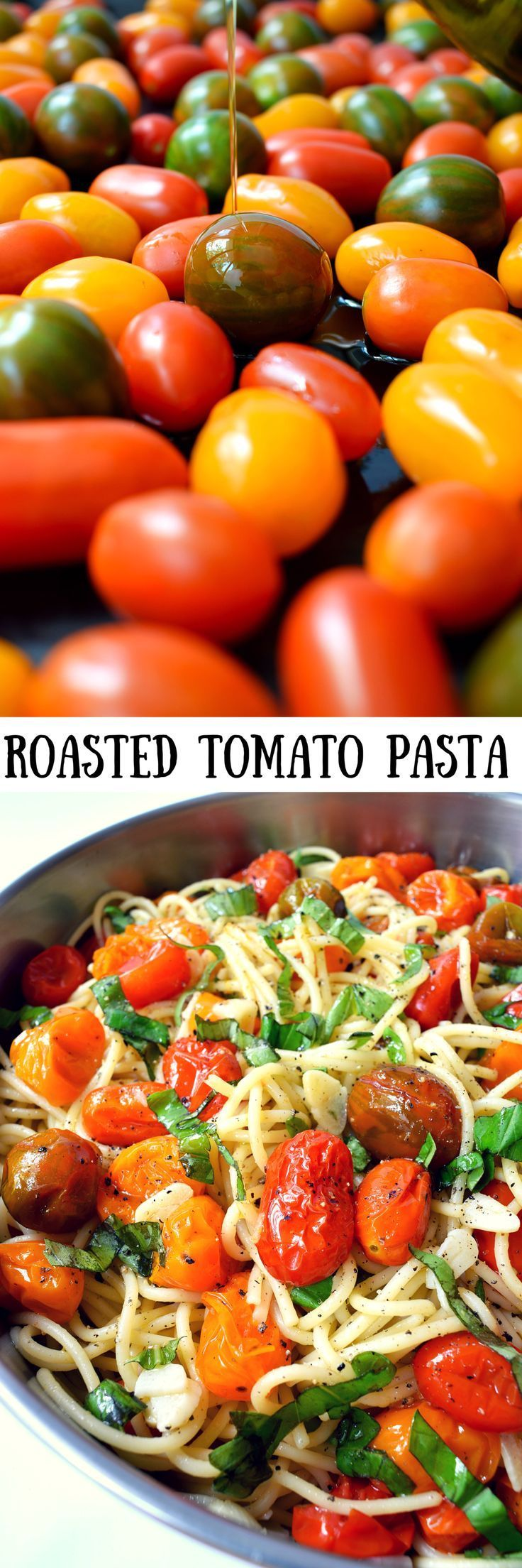 This recipe for vegan roasted tomato pasta with garlic and basil is so easy it could go under the category of cooking for dummies. Go ahead and try to stuff it up, I dare you. You'll need a grand total of seven ingredients and just twenty-five minutes to get this simple and colourful dish on the table.
