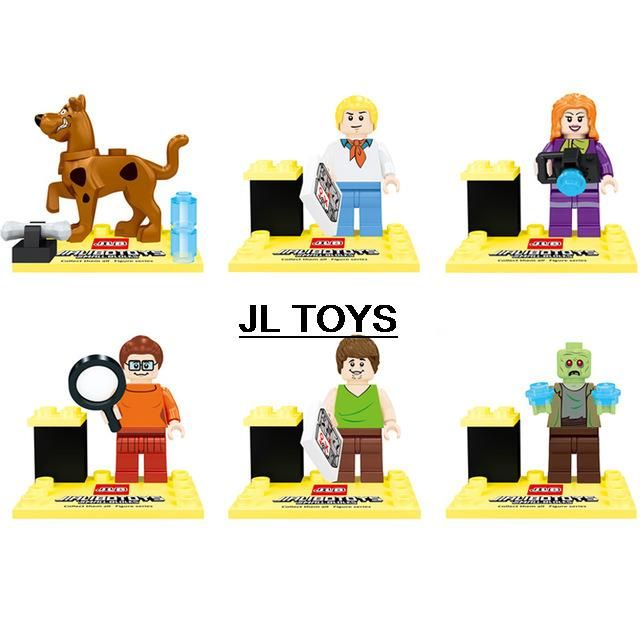 Горячий Американский мультфильм изображения Скуби-Ду кирпичи Собак зомби minifigures building block совместимые покемон пойти для детей подарки