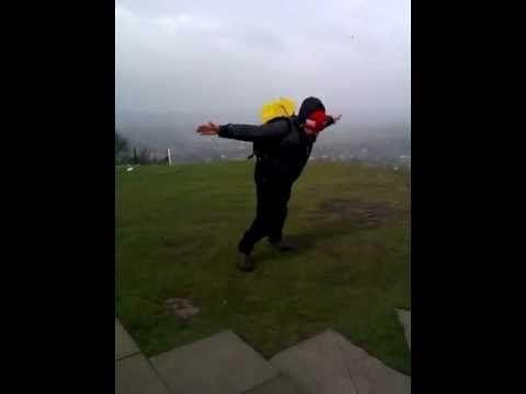 Windy day on White Nancy