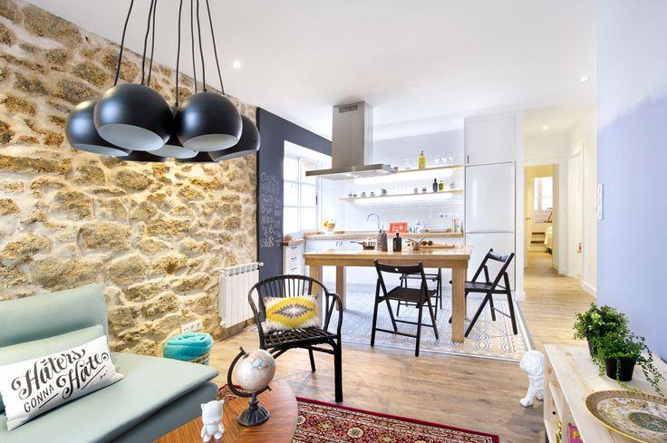 A Coruña for rent? La reforma de esta vivienda intenta apegarse a la lógica del alquiler, apelando a un gusto joven, demostrando que es posible decorar con cautela. #Kitchen #HomeDecor #InteriorDesign #Desing #Home