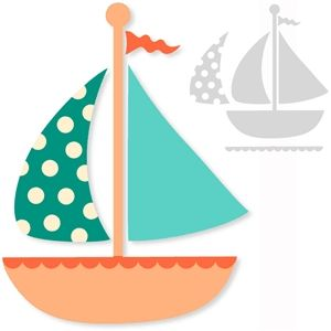 Silhouette Design Store - View Design #10165: sail boat