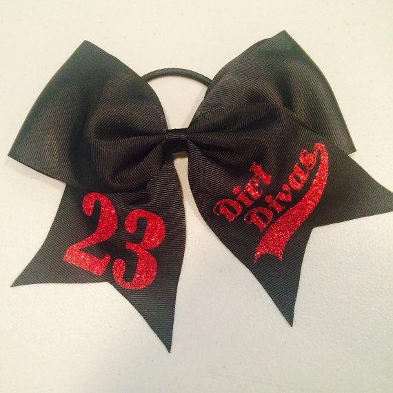 Custom Softball Hair Bow Personalized with by SewUniqueDesignsKY