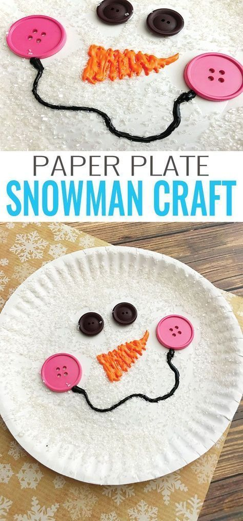Paper Plate Snowman Craft Winter Crafts For Kids Christmas In