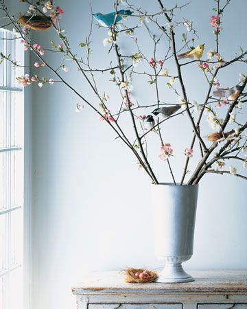 So Springy!: Ideas, Spring Awakening, Crepes Paper, Little Birds, Easter Crafts, Paper Birds, Easter Trees, Martha Stewart, Crepe Paper