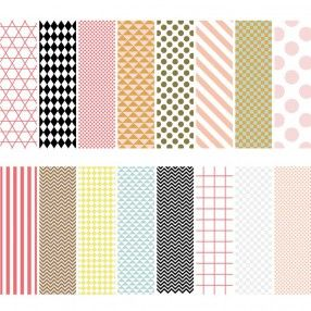 Motivpapier Block Graphic 21x30cm 30 Blatt - idee. Online-Shop