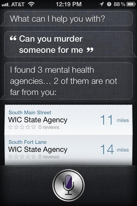 Ask Siri: Can you murder someone for me? #iPhone #Siri