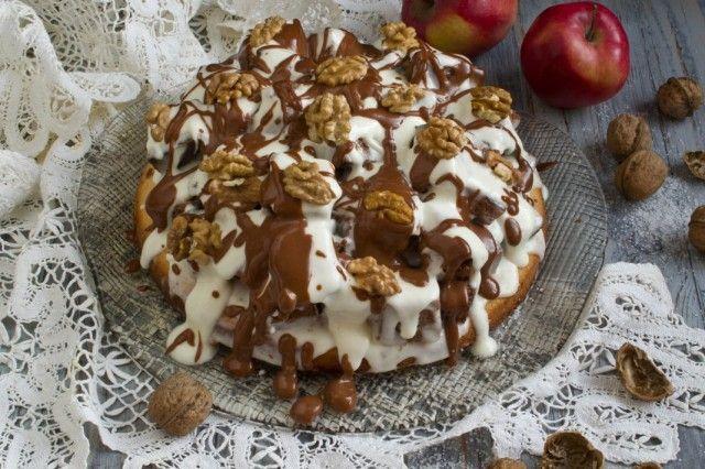 Бисквитный торт с грецкими орехами и сметанным кремом. Пошаговый рецепт с фото - Ботаничка.ru