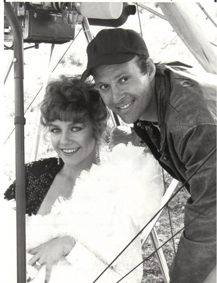 Dwight Schultz with his fiancé Wendy Fulton on the set of ...