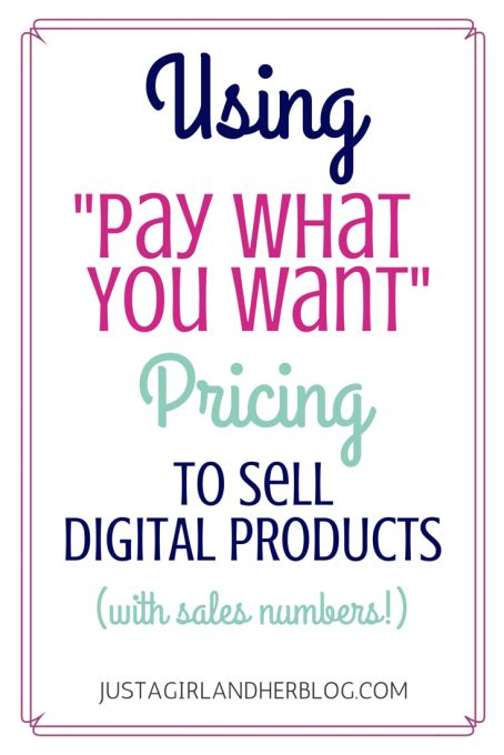 Love this Pay What You Want model of pricing products! It really paid off for this blogger! Click through to the post to see how much she made!