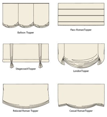 Valance Ideas; love the faux Roman topper