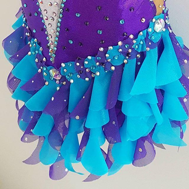 Here is the next part of this customised Rhythmic Gymnastics leotard.....do you like swirly skirts? @swish_leotards