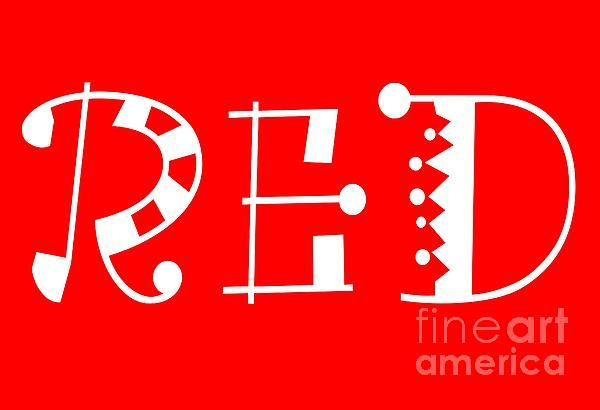 Red - Primary Color - Letter Art by Barbara Griffin