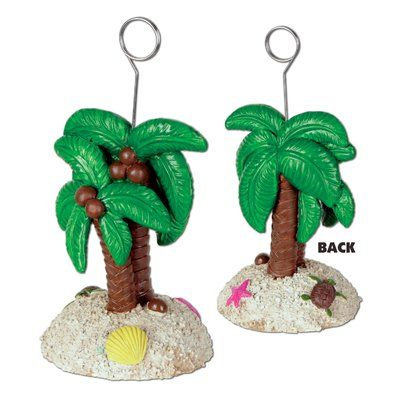 The Beistle Company Palm Tree Photo/Balloon Holder Picture Frame Set