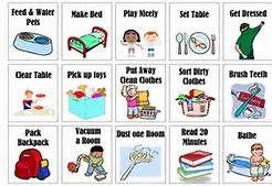free printable chore clip art bing images chore chart rh pinterest com chore clip art for children chorale clipart