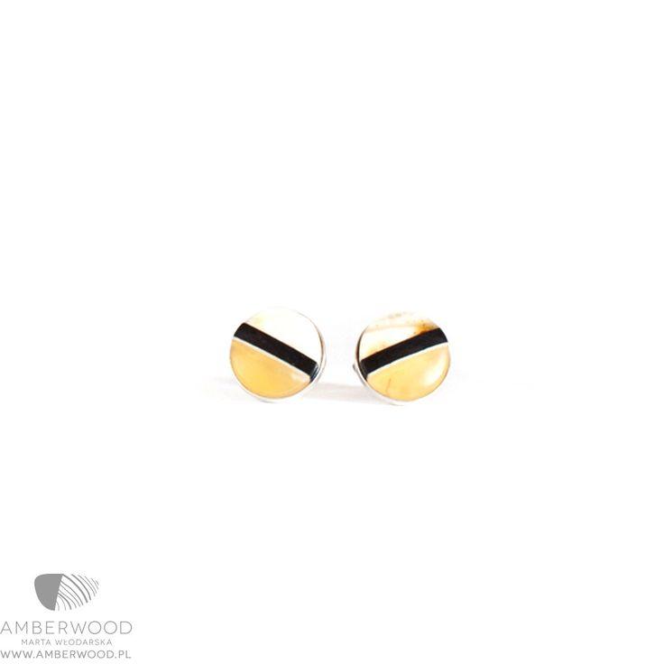 Earrings Amberwood ROUND XS