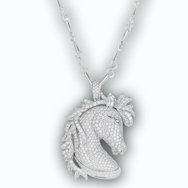 133 best jewelry for year of the horse images on pinterest schreiner diamond horse pendant aloadofball Image collections