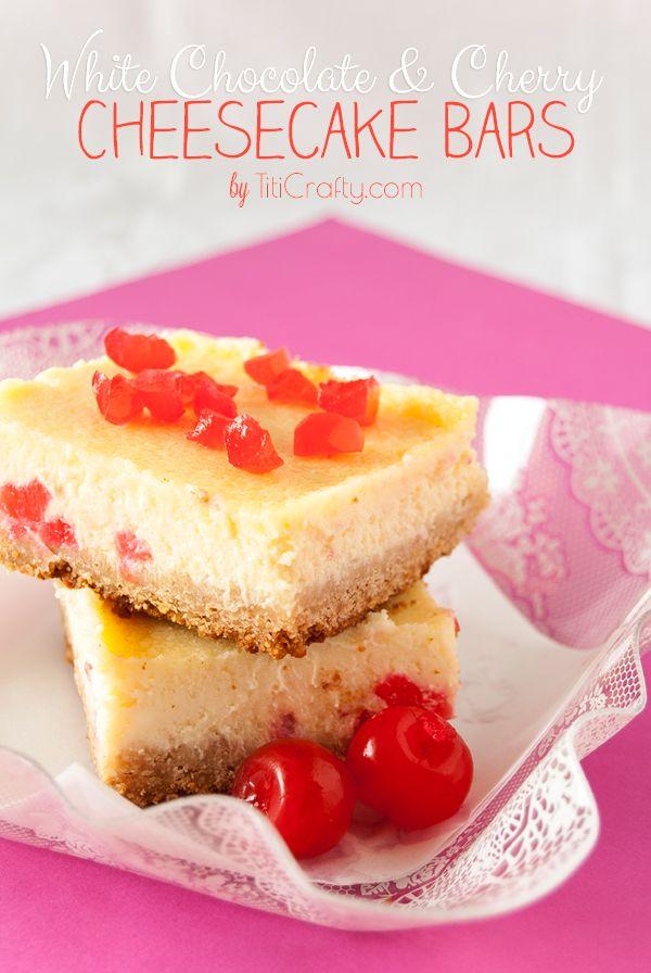 White Chocolate Cherry Cheesecake Bars Recipe