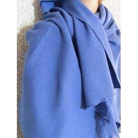 Knitted Shawl - Saxe Blue