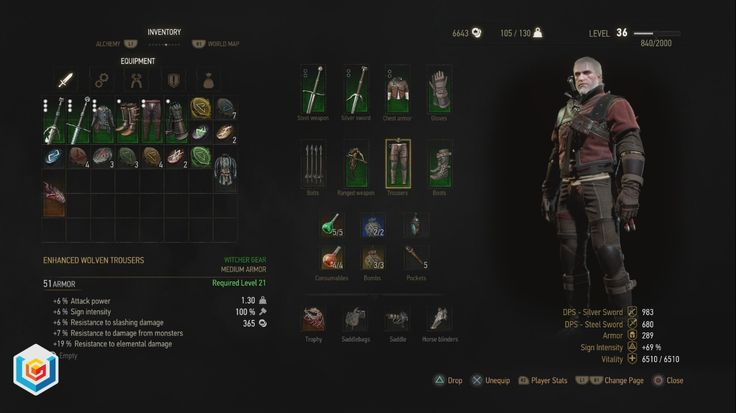 The Witcher 3 Wild Hunt Enhanced Wolven Wolf School Gear Set DLC Diagrams Locations Guide – VGFAQ