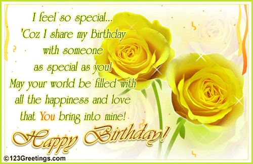 Birthday Greeting Card Yellow Roses