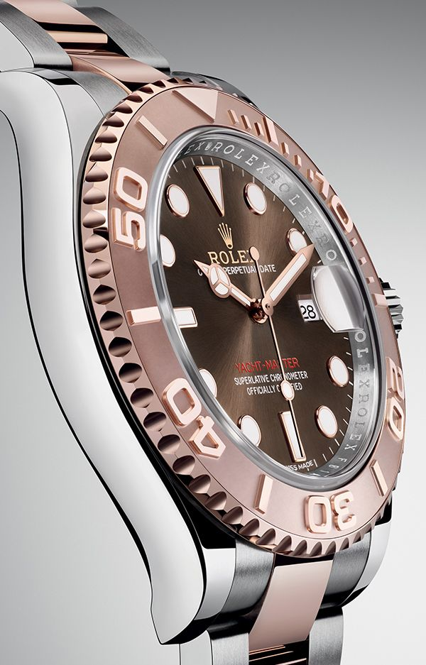 The new Rolex Yacht-Master 40 in Everose Rolesor with a chocolate dial. #RolexOfficial #Baselworld2016