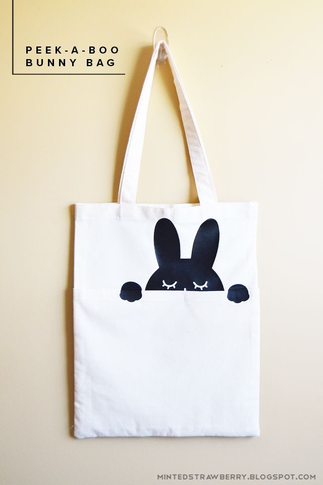 DIY: Peek-A-Boo Bunny Bag - using the Silhouette and Heat Transfer