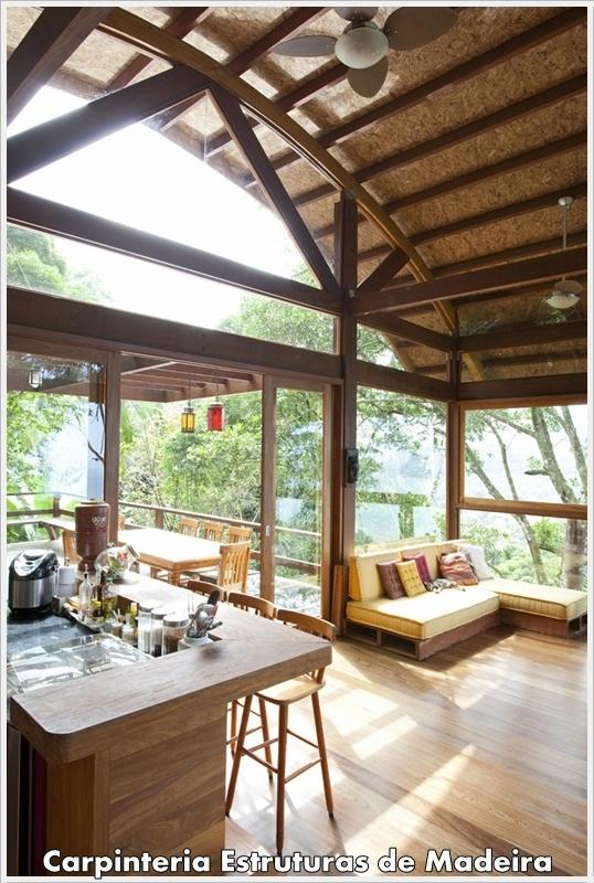 Carpinteria Estruturas de Madeira   Arquitetura e Urbanismo   Kawek