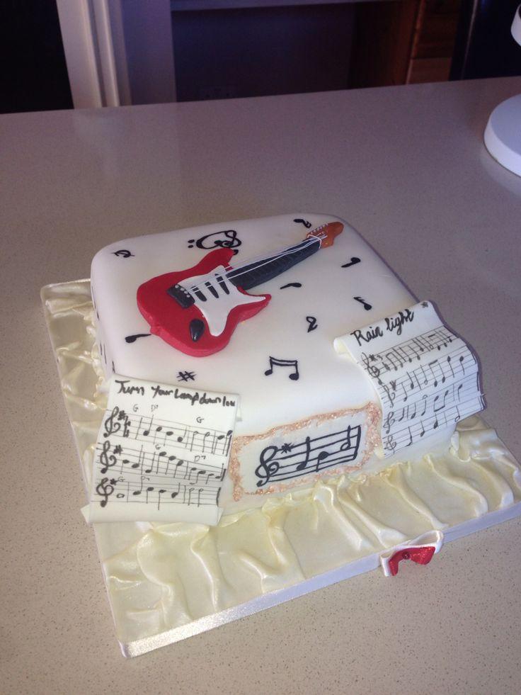 Birthday music guitar cake